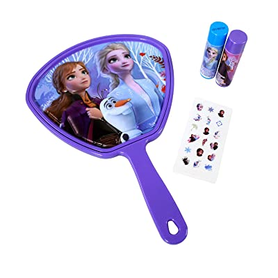 Frozen 2 Hand Mirror with Flavored Lip Balm Set: Toys & Games