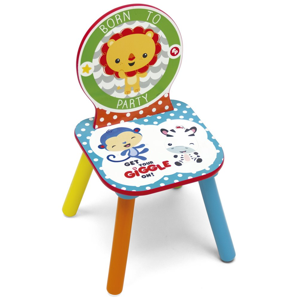 Fisher-Price Chaise pour Enfants, Bois, Multicolore, 27 x 27 x 52 cm ARDITEX Arditex_FP10001