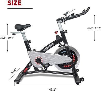 JOROTO Bicicleta de ciclismo magnética para interiores - Bicicletas estáticas de conducción con cinturón para entrenamiento en casa (modelo: XM15): Amazon.es: Deportes y aire libre