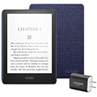 Kindle Paperwhite Essentials Bundle including Kindle Paperwhite - Wifi, Without Ads, Amazon Fabric Cover, and Power Adapter photo