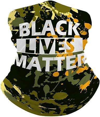 Black Lives Matter Mask Black Neck Gaiter for Sun Dust Wind Protection BLM Face Mask for Men Women Unisex