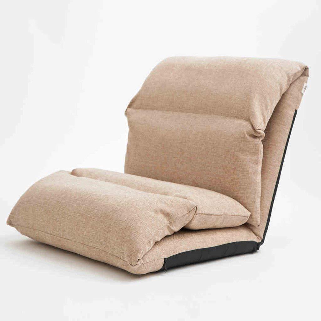 Nanwu クリエイティブ怠惰なソファ厚いベッドバックシングルソファチェア枕クッション (Color : Khaki) B07T6F3W8Y Khaki