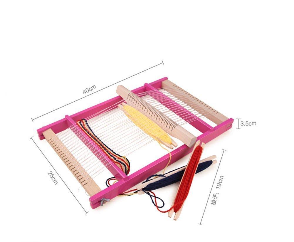 JWTX Weaving Loom Multi-Craft Lap Loom Wooden Toy