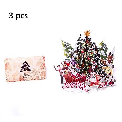 Buon Natale 3d.Baivit Cartolina D Auguri Di Buon Natale 3d Biglietto Di Auguri Di