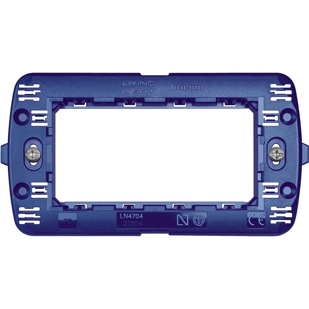 bticino SLN4704F Interruptor y Marco para enchufes - interruptores y Marcos para enchufes (Azul, De plá stico, Bticino, S504EF, Convencional) De plástico