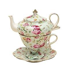 Gracie China by Coastline Imports 4-Piece Porcelain Tea for One