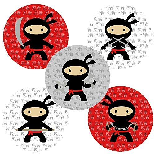 Ninja Sticker Labels - Party Favors and Envelope Seal Party