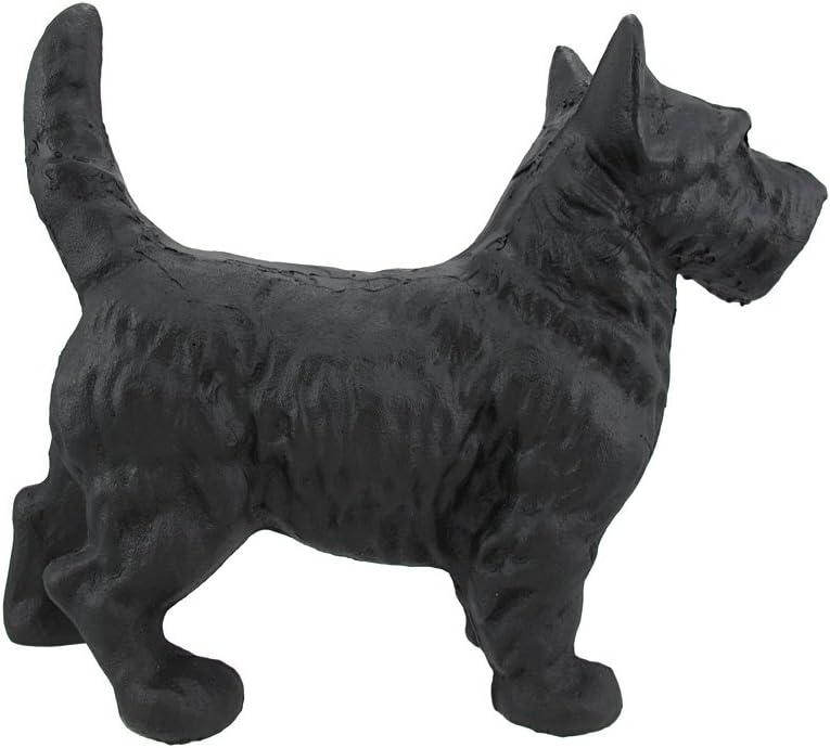 Cast Iron Scottish Terrier Dog Statue Black Enamel Scottie