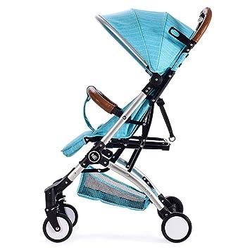 Sillas De Paseo Ligero Carritos De Bebe Plegable Carro Bebe De Viaje Por Cochecito De Bebé De,Blue: Amazon.es: Jardín
