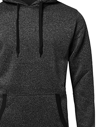 Fine Quality Plush Fleece Lined Pullover Black L Size by Style by William (Image #2)