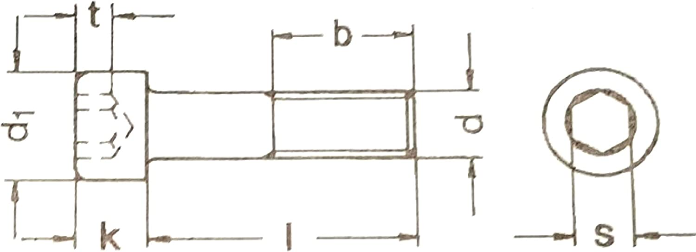 Zylinderkopf DIN 6912 M10 x 16 Zylinderschrauben mit NIEDRIGEM KOPF 10 St/ück