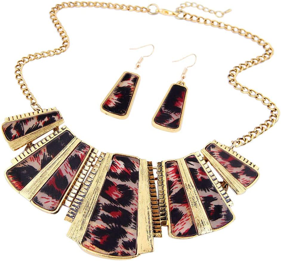 Necklace for Women Fashion Jewelry Womens Mixed Style Bohemia Chain Necklace+Earrings Jewelry