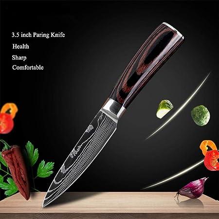 ULTRA-SHARP HOJA: El cuchillo de cocina ángulo de corte es de 15 grados. Y la hoja del cuchillo de c