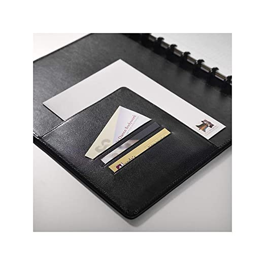 Arc Customizable Leather Notebook System, Black, 9-1/2