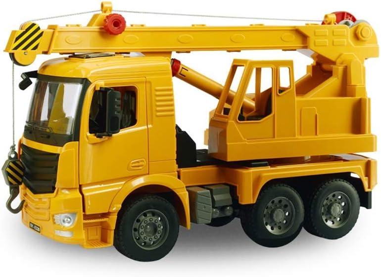 LNDDP Kits Modelo automóvil, Modelo grúa Pluma camión ingeniería Deslizante Manual Juguete para niños