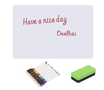 Pizarra adhesiva magnética de DeeBuu, pizarra de borrado en seco para niños, para hogar y oficina, se puede usar con rotulador y se puede borrar