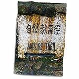 3dRose Danita Delimont - Signs - Hong Kong, Tai Po Kau Nature park trail marker. - 15x22 Hand Towel (twl_225589_1)