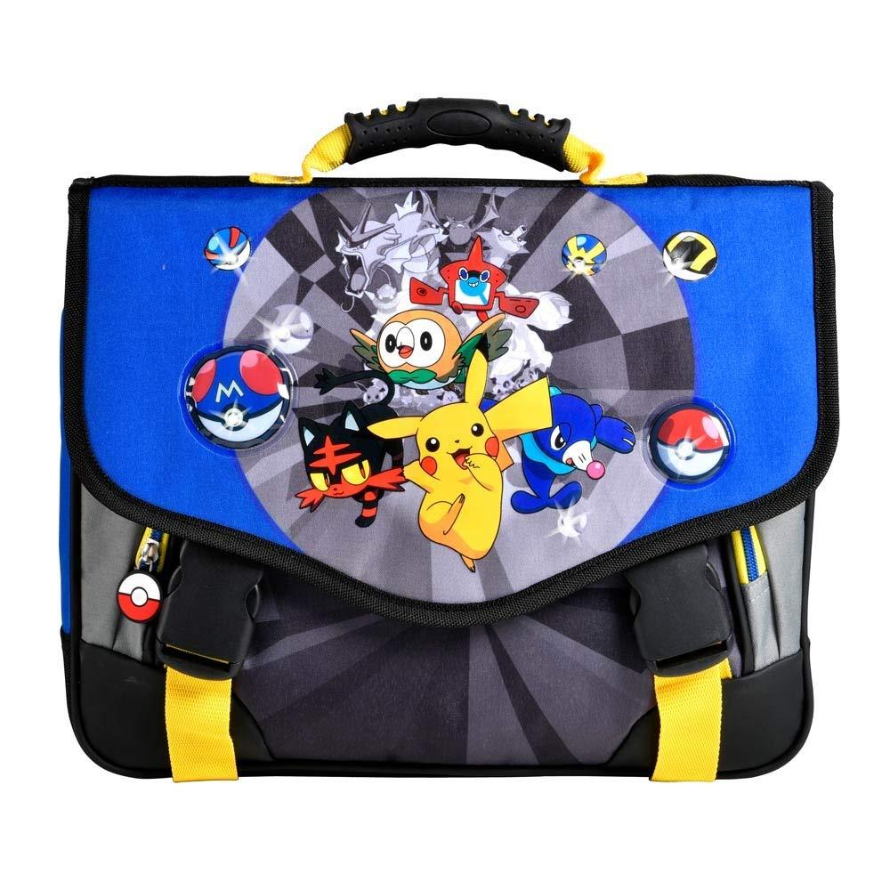 Cartable /à LED Pokemon Alola 38cm 2 Compartiments