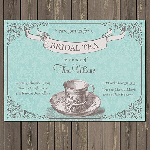Amazon tea party bridal shower invitation bridal shower tea tea party bridal shower invitation bridal shower tea invite vintage tea invitation bridal filmwisefo Images