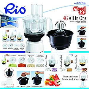 Maggi RIO 4G Food Processor and Cocunut Scrapper Attachment for only Philips Mixers HL1643/1645/1618/1629/1616