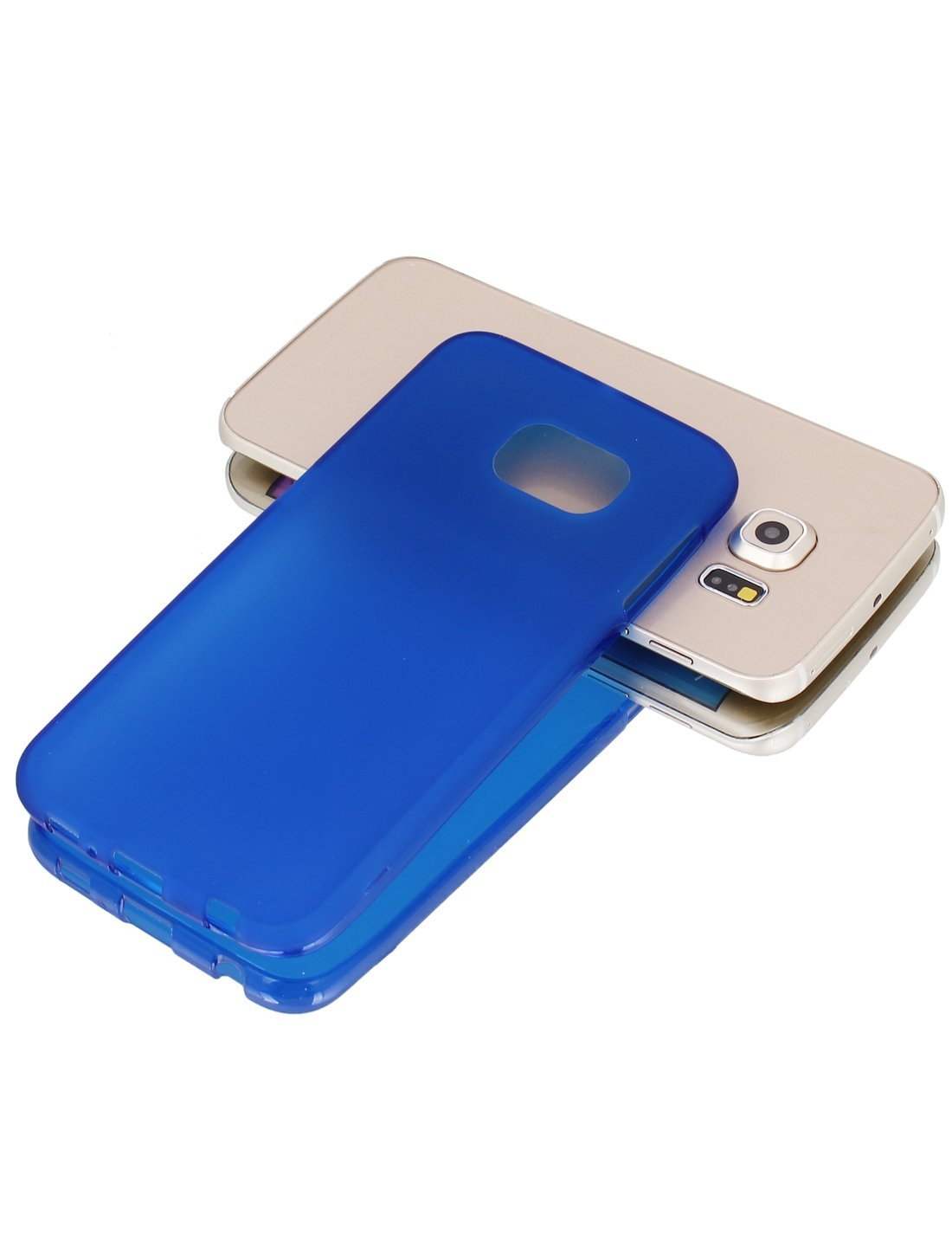 Amazon.com: eDealMax De silicona de Nuevo caso w Azul de la cubierta protectora de la película limpiaparabrisas Para S6 / G925: Electronics