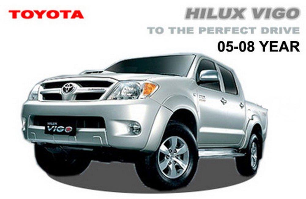 Amazon.com: Led Mirror Cover Chrome Toyota Hilux Vigo Mk6 Invincible ...