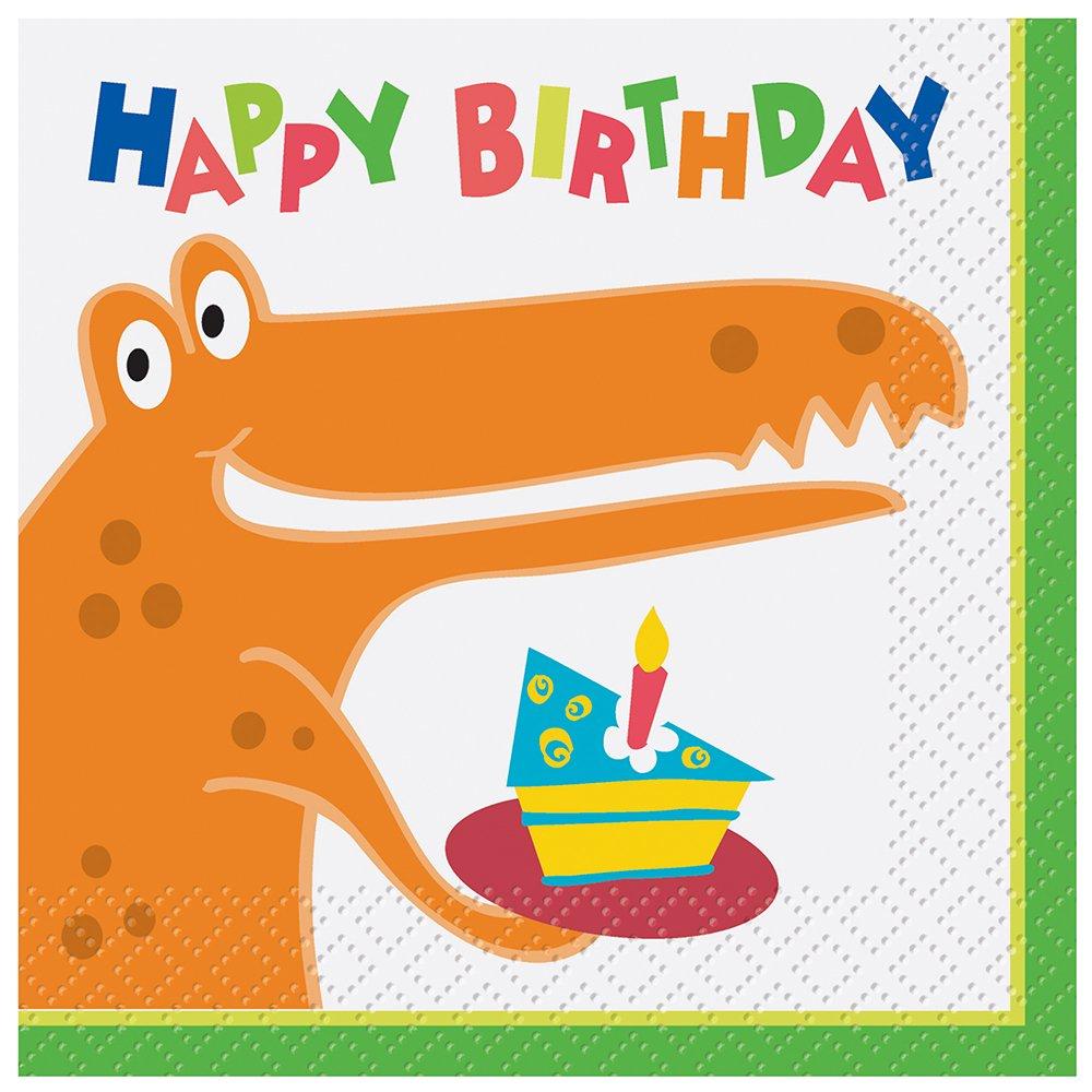 (1, Multicolor) - Dinosaur Party Beverage Napkins, 16ct B00H2SMST4