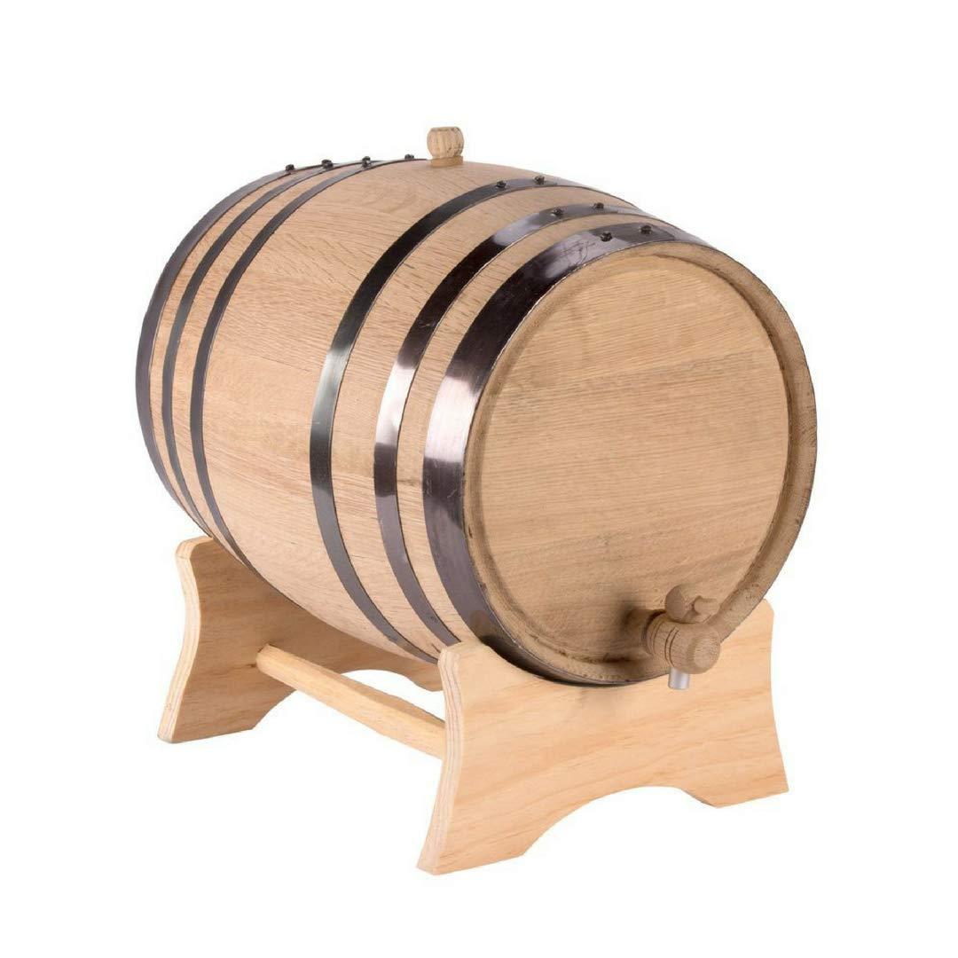American White Oak 5 Liter Barrel with Black Steel Hoops (Blank) by THOUSAND OAKS BARREL