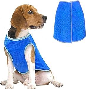 PETSTATION Dog Cooling Vest,Swamp Cooler Jacket for Pet, Pet Cooling Harness Coat for Large and X-Large Dogs
