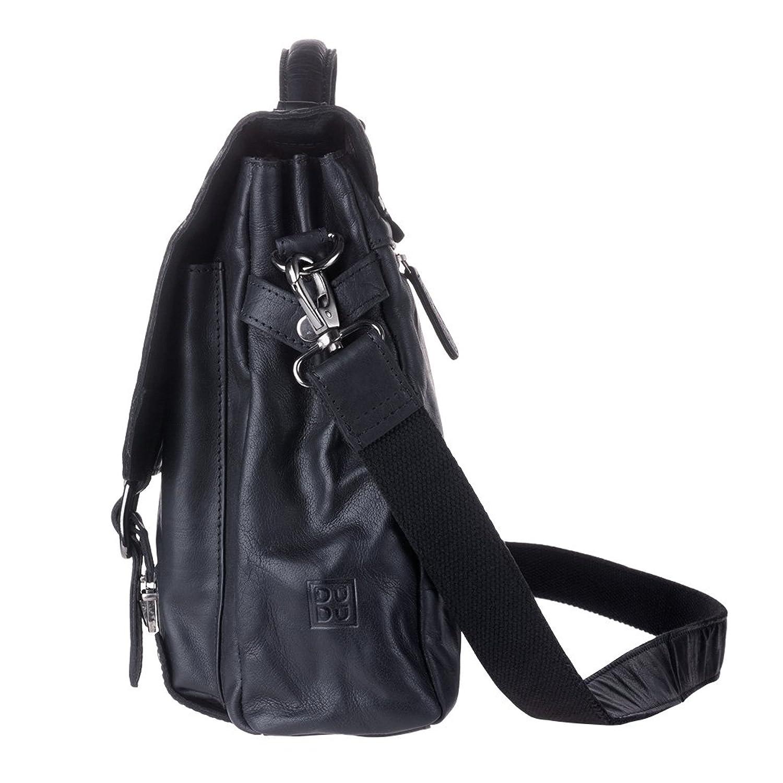Mens Real Leather Messenger Laptop Bag Shoulder Briefcase Satchel bag for Office  DUDU Black: Amazon.co.uk: Shoes & Bags