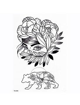 ASTTY Etiqueta Engomada del Tatuaje Bajo El Tatuaje Temporal del ...