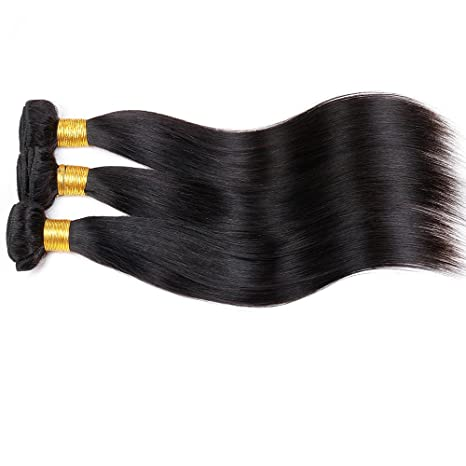 Amazon.com : ZILING Brazilian Straight Virgin Hair 3 Bundles 100% Unprocessed Human Hair Weave Bundles (10 12 14) : Beauty
