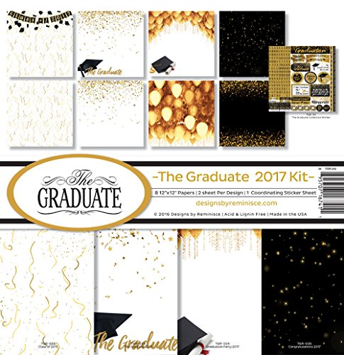 Grade Scrapbook Paper (Reminisce TGR-202 The Graduate 2017 Scrapbook Collection Kit)