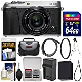Fujifilm X-E3 4K Digital Camera & 23mm f/2 XF Lens (Silver) with 64GB Card + Case + Battery/Charger + Tripod + Filter Kit