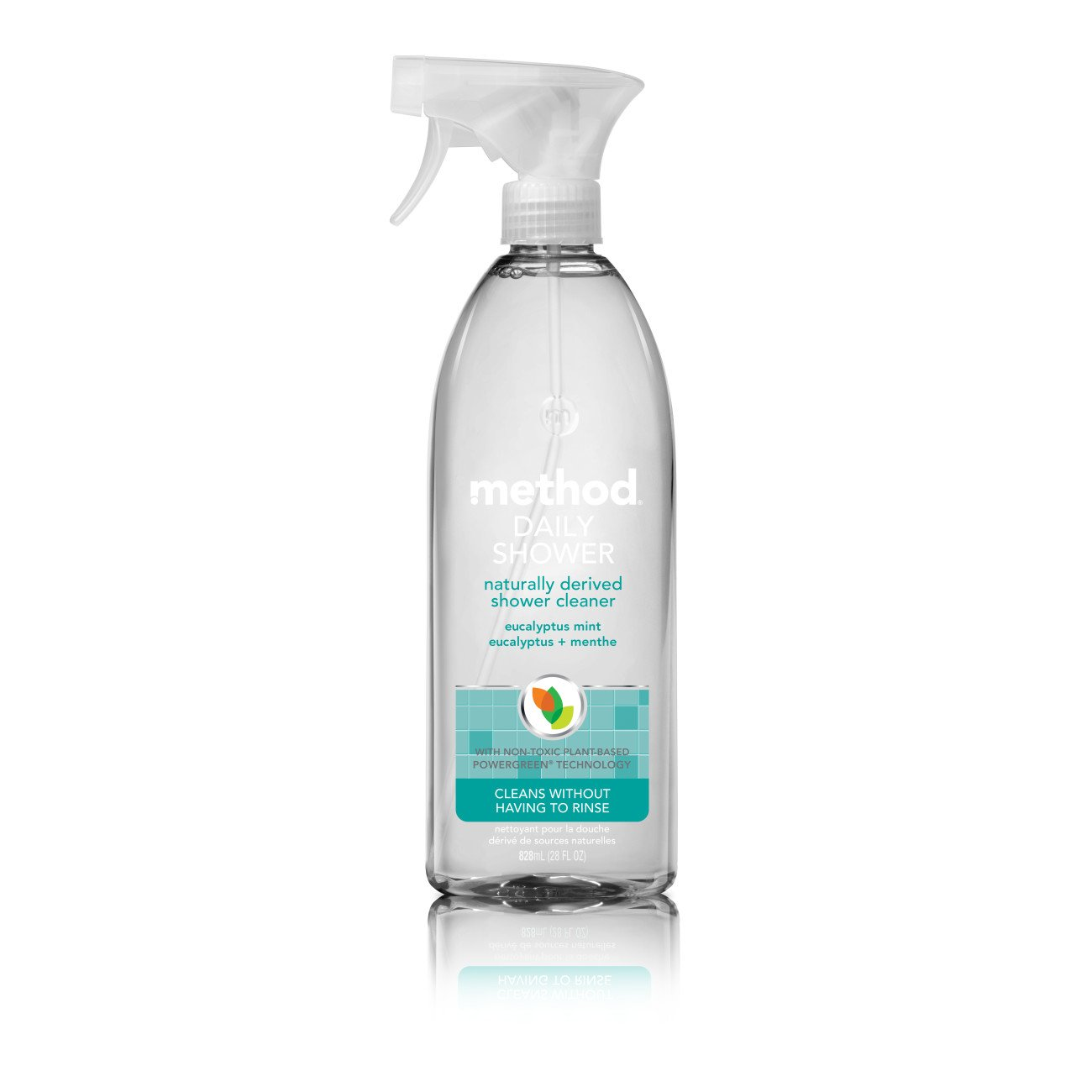 Method Daily Shower Spray Cleaner, Eucalyptus Mint, 28 Ounce (Pack 8)