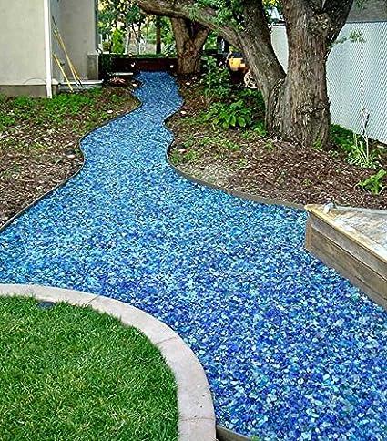 Amazon Com Crystal Blue Landscape Glass Medium 50 Lb Bag Home And Garden Products Garden Outdoor