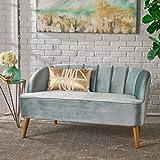 Cheap Scarlett Modern Seafoam Blue Velvet Sofa