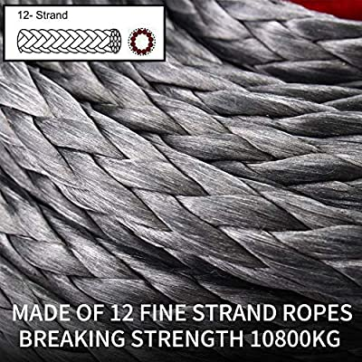 Synthetic Winch Rope 3/8