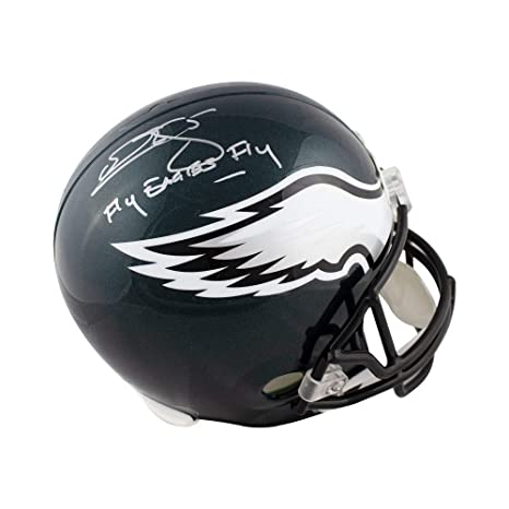b2ada61da Amazon.com  Donovan McNabb Fly Eagles Fly Autographed Eagles Full-Size  Football Helmet - BAS  Sports Collectibles