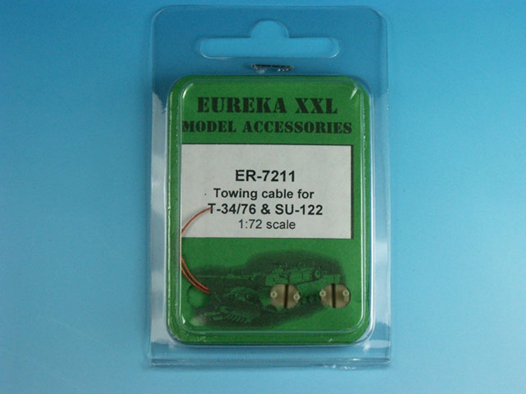 Eureka XXL 1:72 1:72 SPG Towing Cable for T-34/76 Tank ER-7211 & SU-85/100/122 SPG ER-7211 B06ZY11CBX, madame bleu:c3c4d490 --- ijpba.info