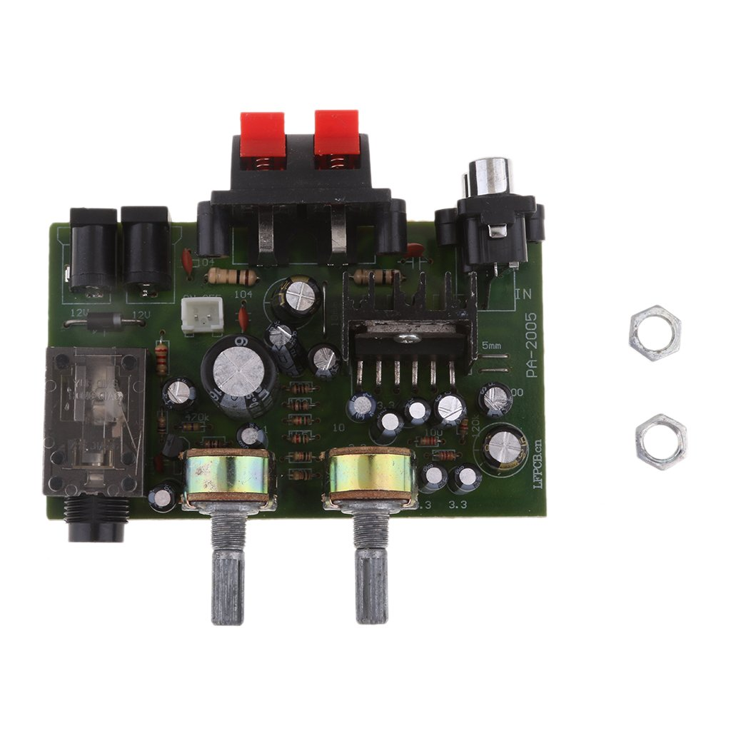 MagiDeal Supporto Per Microfono Scheda Amplificatore Digitale A Doppio Canale 12v Power Tda2005