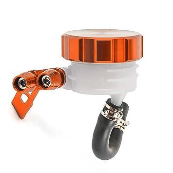 Depósito delantero para líquido de frenos de motocicleta, depósito
