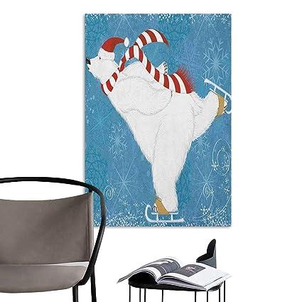 Amazon com: Waterproof Art Wall Paper Poster Bear Polar Bear