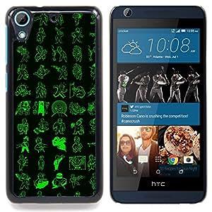 "Qstar Arte & diseño plástico duro Fundas Cover Cubre Hard Case Cover para HTC Desire 626 (Patrón de Vault Boy"")"