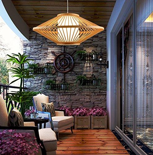 Chinos hechos a mano de bambú cortina de la lámpara de la lámpara de iluminación luces de estilo japonés