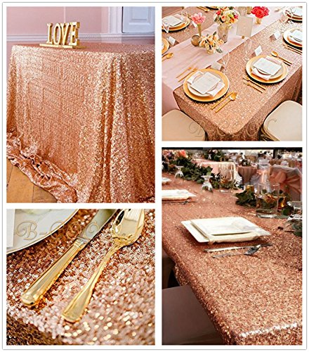 e Rose Gold Sequin Tablecloth Sparkly Sequin Table Linens Glitter Tablecloth Wedding Sequin Tablecloth (Christmas Glitter Art)