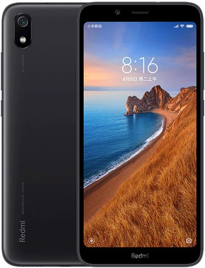 Xiaomi Redmi 7A Smartphones 2 GB de RAM + 32 GB de ROM, Pantalla de 5.45'', Procesador Octa-Core, Cámaras Frontales de 5MP y cámaras de 13MP Versión Global (Negro)