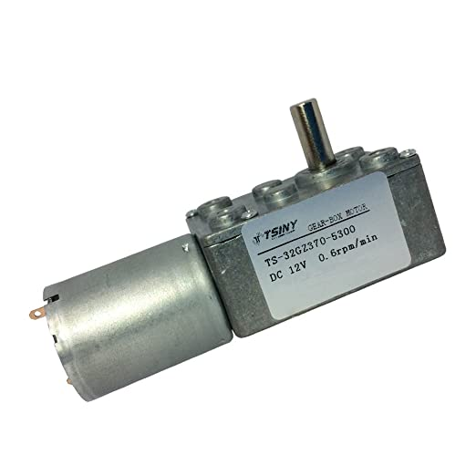 TSINY Miniature High Torque 12v DC Low Speed 0 6RPM Right