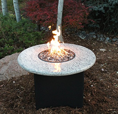 Oriflamme Propane or Natural Gas Fire Pit Table – 32″ Round or Square – 4 Granite Colors (giallo santo)