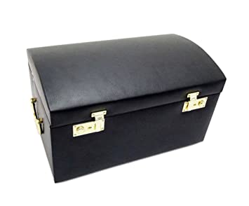 Amazoncom Morelle Marylyn Leather Jewelry Chest with 3 Takeaway